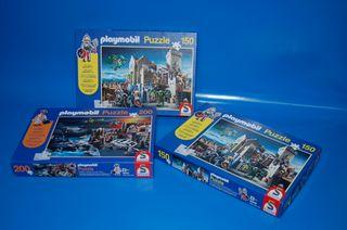 Lote de 3 Puzzle Playmobil 1:1 - Schmidt
