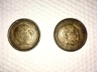 2 Monedas 2,50 Pesetas de 1.953