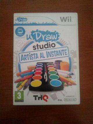 Videojuego y Tablet Wii Udraw