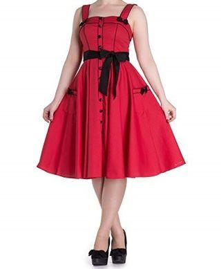 Vestido rojo lunares HELL BUNNY Talla XS S M XXL