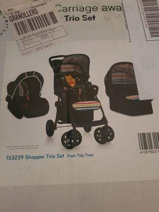 carro bebé 3 piezas .disney marca hauck