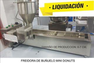 Fabricador y dispensador buñuelo mini donuts