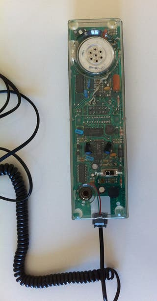 Telephone filaire vintage 80's Dapy Plexiglass