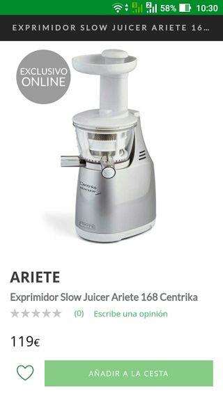 Ariete 168 Centrika Slow Juicer *Con garantía*