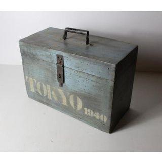 Antiguo baúl de madera Tokio 1940