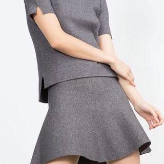 Mini falda de punto Zara