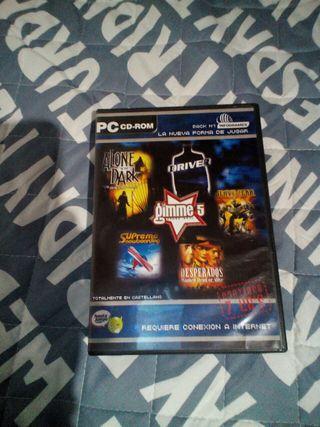 Lote juegos PC ordenador DVD Infogrames