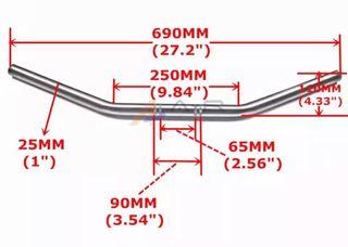 Manillar Drag Custom 25mm Cambio