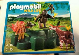 Playmobil 5415. Gorilas y okapis.