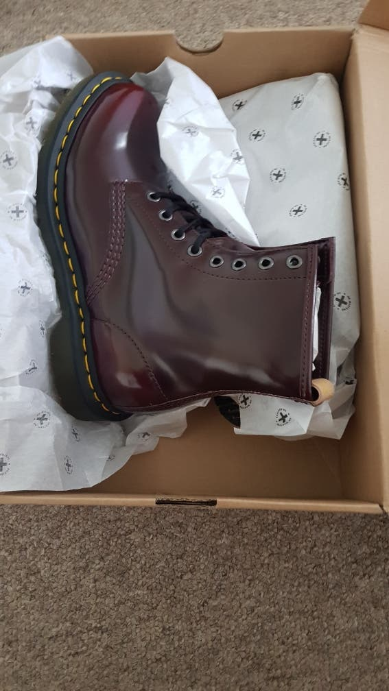 Dr Martens Vegan Cherry Red