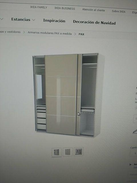 Urge Vender Armario Pax Ikea De Segunda Mano Por 300 En Barcelona