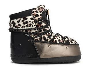 Jimmy Choo moon boots leopardo