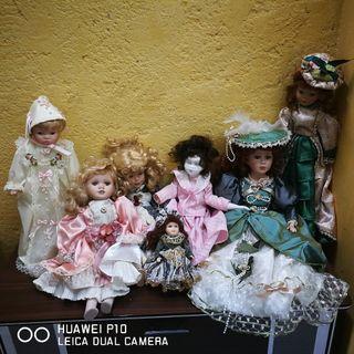 Lote de muñecas de porcelana
