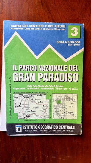 Mapa GRAN PARADISO