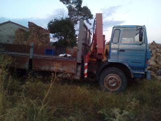 camion basculante con pluma