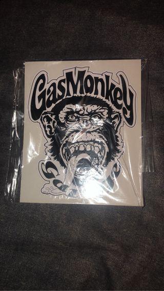 Pegatina gas Monkey
