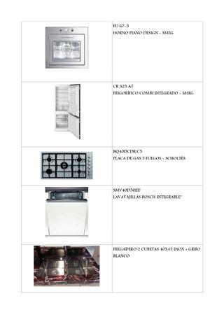 Cocina de exposición a la venta