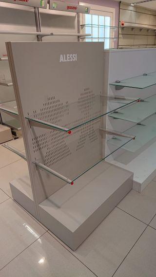 Mueble expositor estanteria cristal
