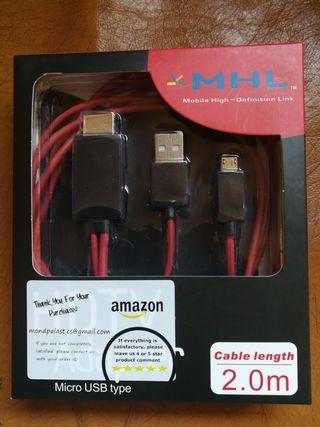 CABLE MHL de MICRO USB a HDMI