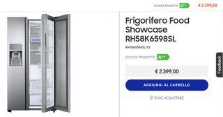 Frigorifico Food Show Case Inox A++ RH58K6598SL