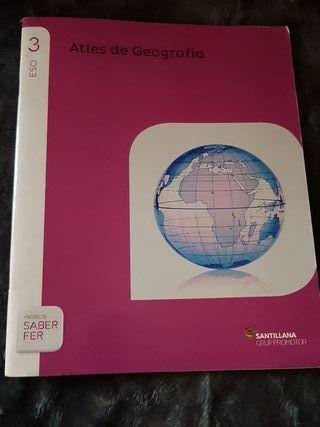 libro 3eso atles de geografía