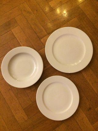 Vajilla de porcelana blanca, marca GÜRAL
