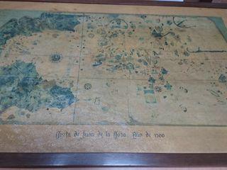 Làmina antigua, Carta Naùtica, Juan de la Cosa