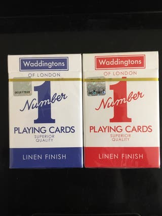 Waddingtons Playing Cards No.1 Red and Blue.