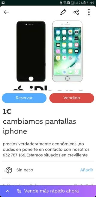 cambio pantallas iphone