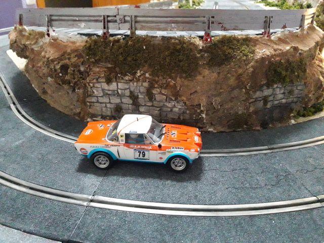 Maqueta de rally scalextric