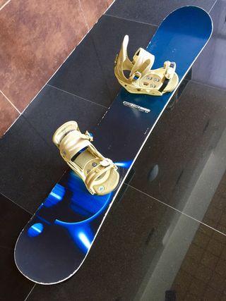 Tabla snowboard Olé + fijaciones Burton