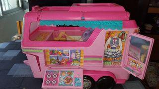Barbie remolque de caballos caravana 1993