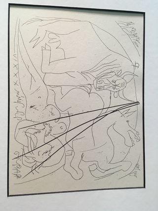 Litografia de Picasso con certificado