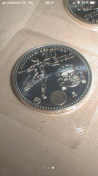 Moneda plata 20€