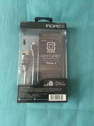 funda y cable cargador Iphone 4.Nuevo