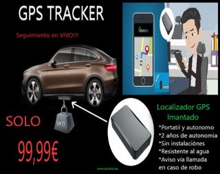 LOCALIZADOR GPS EN VIVO! Sin instalaciones, coche