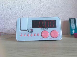 Radio Reloj Despertador de Hello Kitty.