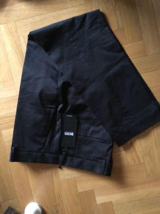 Pantalón traje negro Hugo Boss