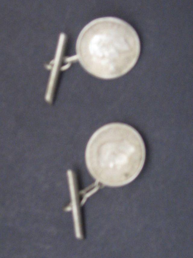 Gemelos de Plata Antiguos,Monedas..