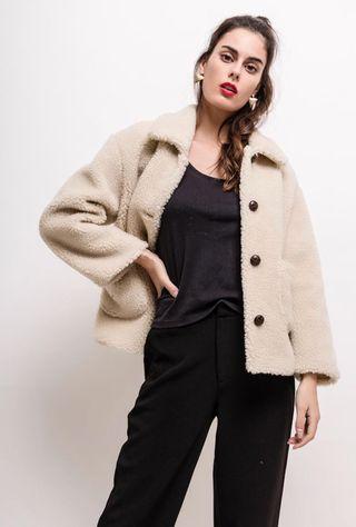 Manteau moltonné style vintage