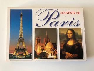 Lote de 16 postales souvenir de París