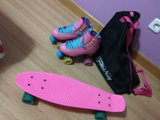 Patines y monopatin