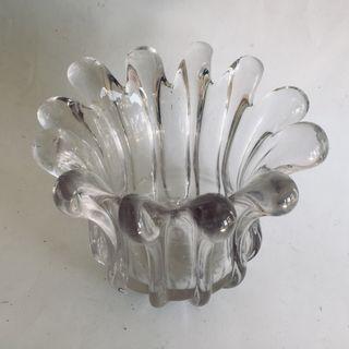 Centro de mesa cristal prensado. Vintage