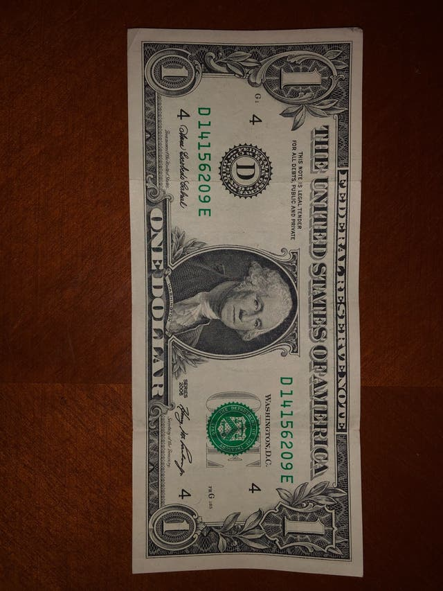 Billete 1$ dolar americano