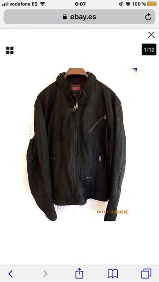 Cazadora de cuero negro LEVIS XL