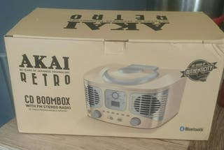 AKAI RETRO CD BOOMBOX FOR SALE