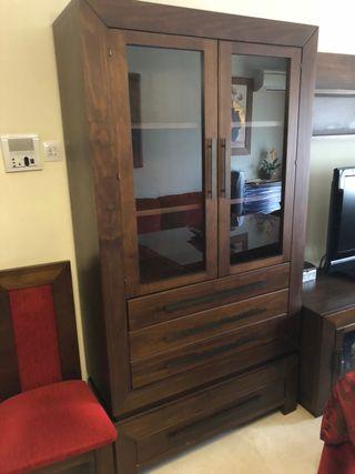 Mueble madera. Dos módulos.
