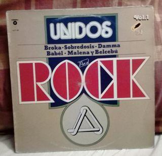 Unidos por el rock vinilo