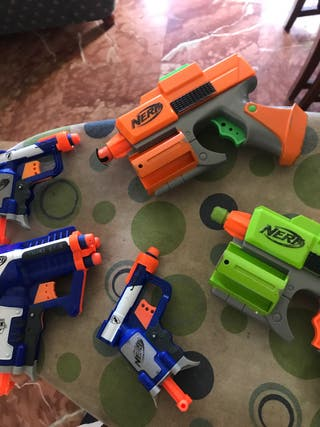 5 pistolas nerf