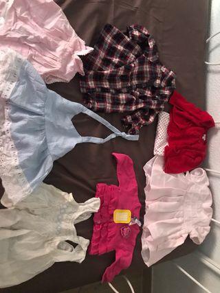 Lote ropa bebé 6-12 meses niña